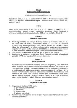 Štatút Nezávislého arbitrážneho súdu zriadeného
