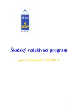 II. stupeň ŠkVP 2013-2014 - Základná škola s materskou školou