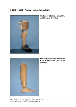 I10041-I10046 - Protézy dolných končatín - PRO