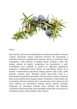 Jalovec Jalovcový olej , jalovcový extrakt (Juniperus