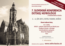 7. SLOVENSKÁ KONFERENCIA DETSKEJ NEFROLÓGIE