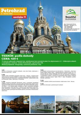 Petrohrad - randontravel.sk