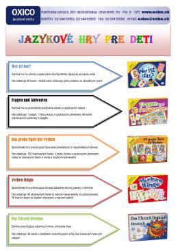 Jazykové hry pre deti [pdf]
