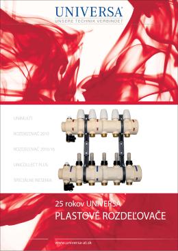 25 rokov plastových rozdeľovačov UNIVERSA