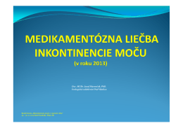 Medikamentózna liečba inkontinencie moču