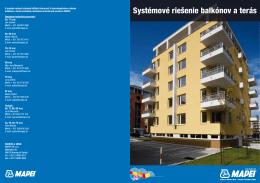 MAPEI systémové riešenie balkóny,terasy
