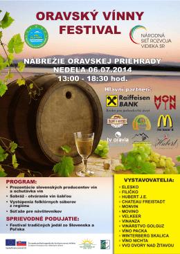 Orava vínny festival pozvánka
