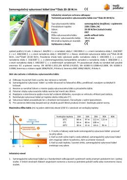 Samoregulačný vykurovací kábel Line™Zlab 20