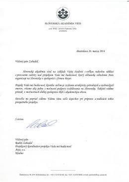 Slovenskej akadémie vied