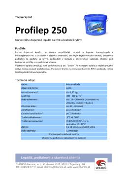 Lepidlo na koberce a PVC Profilep 250