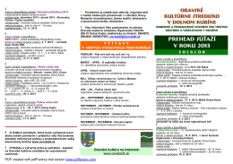súťaže leták 2013 - Oravské kultúrne stredisko, Dolný Kubín