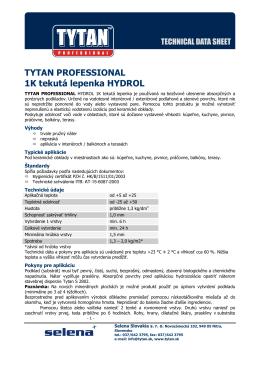 TYTAN PROFESSIONAL 1K tekutá lepenka HYDROL