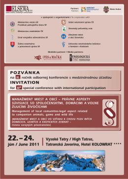 POZVÁNKA INVITATION jún / June 2011 Vysoké Tatry