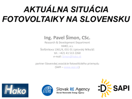 Fotovoltika na Slovensku