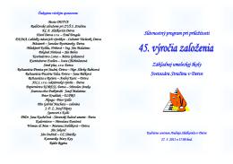 Slávnostný program pri príležitosti Základnej umeleckej školy