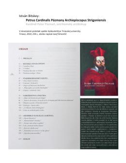 Petrus Cardinalis Pázmany Archiepiscopus Strigoniensis