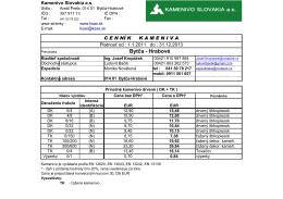 Bytča - Hrabové - KAMENIVO SLOVAKIA as
