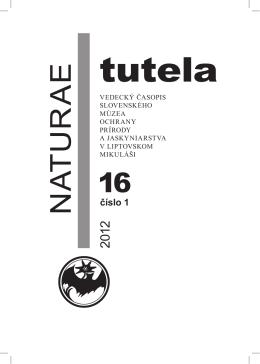 Abstrakty NT 16/1,2 rok 2012 - Slovenské múzeum ochrany prírody