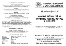 Stiahnuť info - WETTRANS Žilina,sro