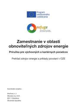 Zamestnanie v oblasti obnoviteľných zdrojov energie