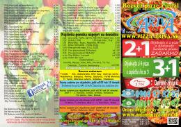 Denné menu - onlinepizza