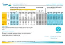 Ceník elektřiny - Vemex Energie as
