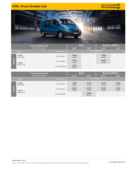 OPEL Vivaro Double Cab