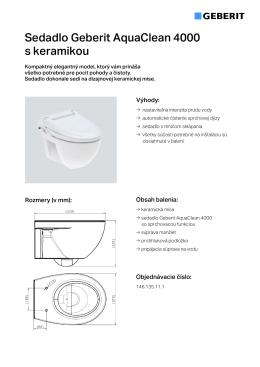 Sedadlo Geberit AquaClean 4000 s keramikou