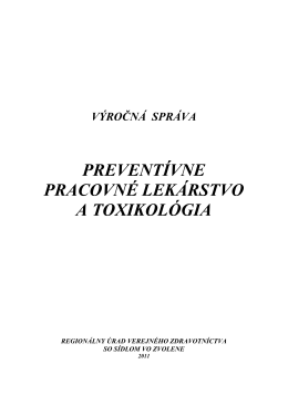 Výročná správa PPLaT 2011 - Regionálny úrad verejného