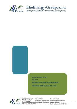 1 Roľnícke družstvo podielníkov, Okružná 784 - EkoEnergy