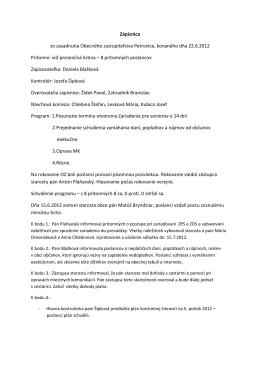 Zápis a uznesenie 22.6.2012