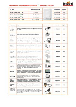 Ceník a příslušenství kotlů Bergen Aqua Silver