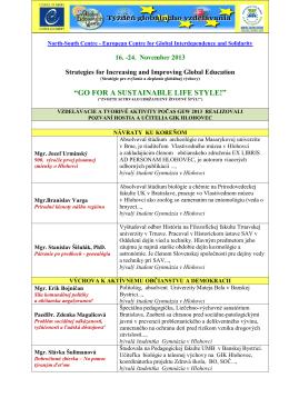 Hostia – lektori GEW 2013