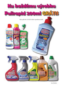 Ku každému výrobku Pulirapid 200ml GRÁTIS