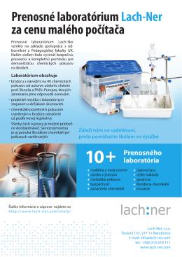 Prenosné laboratórium Lach-Ner za cenu malého - Lach