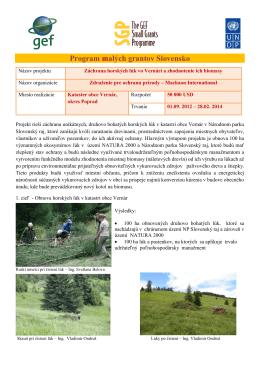 Program malých grantov Slovensko