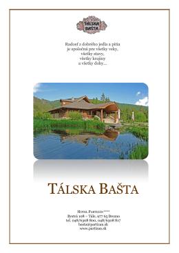 TÁLSKA BAŠTA - Hotel Partizán
