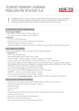 Zadávanie podkladov do tlače (.PDF)