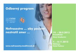 Odborný program - Všeobecné informácie