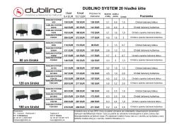 DUBLINO SYSTEM 20 hladké šitie