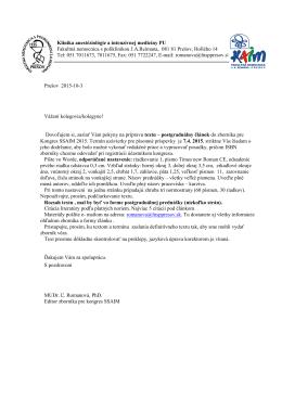 List prednášateľom FEFA
