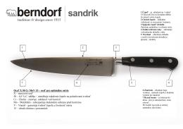 vlastnosti nožov