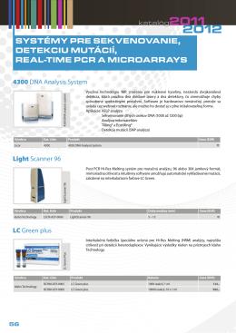 Systémy pre sekvenovanie, detekciu mutácií, Real-Time