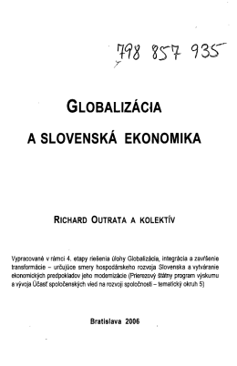 A SLOVENSKA EKONOMIKA