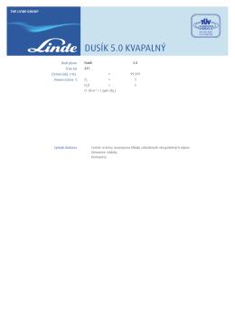 DUSÍK 5.0 KVAPALNÝ - Katalóg plynov Linde Gas