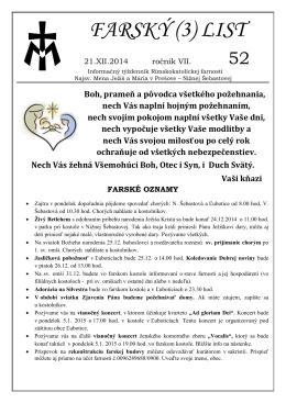 FARSKÝ (3) LIST - Obecný úrad Ľubotice