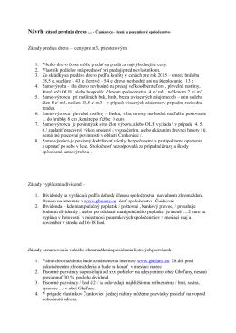 Čunkovce - Zásady predaja dreva 2015