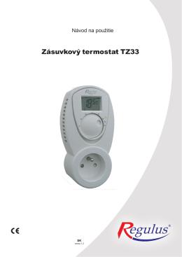 Zásuvkový termostat TZ33