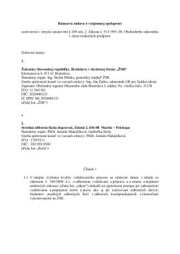 12.02.2014 Rámcová zmluva o vzájomnej spolupráci