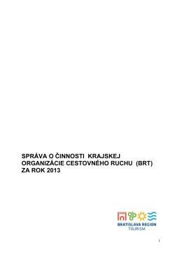 za rok 2013 - Bratislava region tourism